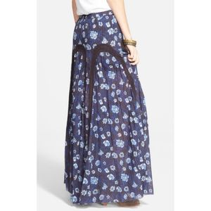 Free People Zoe floral lace maxi skirt / M